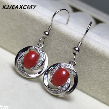 KJJEAXCMY Fine Jewelery Natural coral gem Earrings multicolored wholesale 925 sterling silver inlaid custom processing