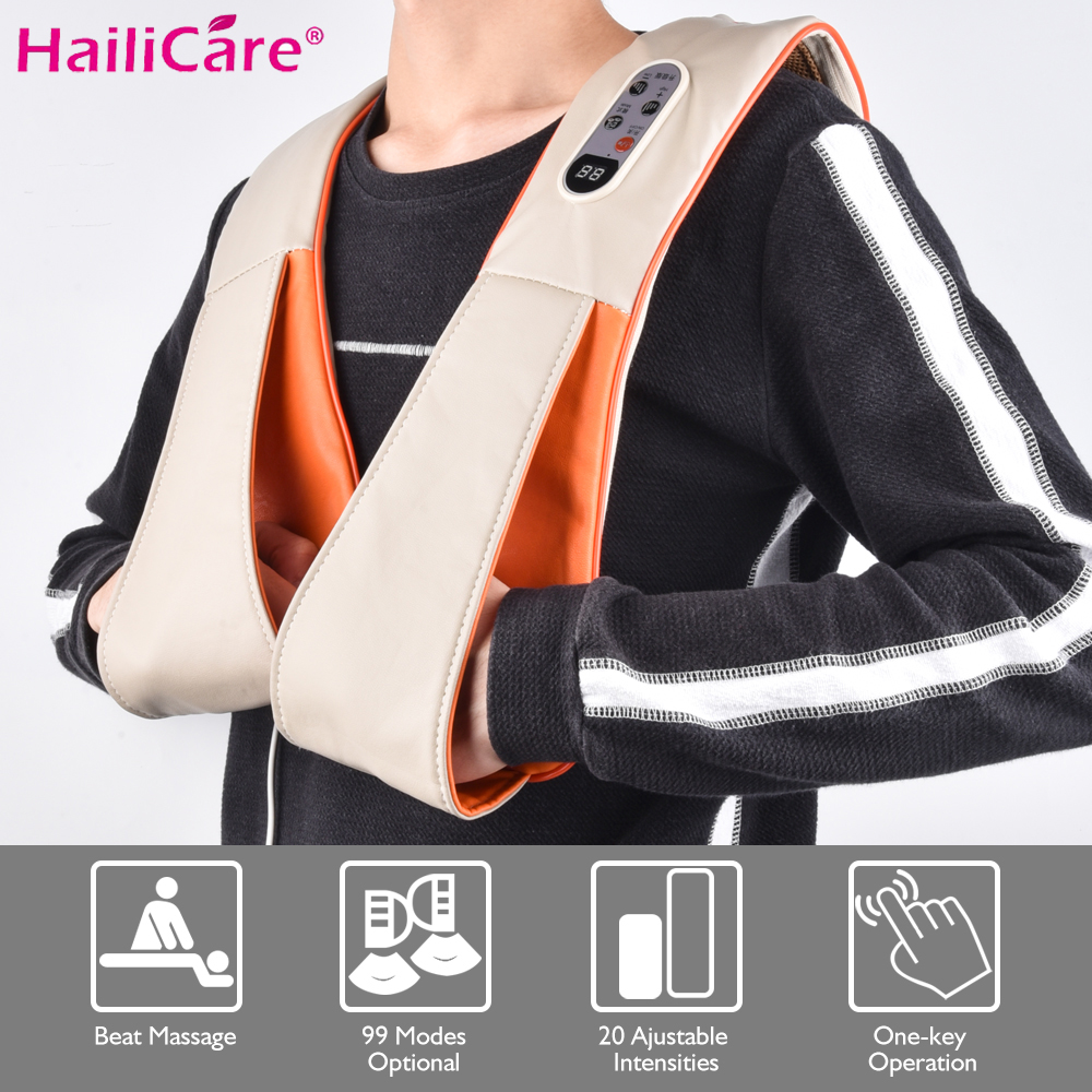 New Electrical Body Massager Pain Relief Relaxation Knock Therapy Cervical Neck Back Shoulder Knocking Massage Shawl