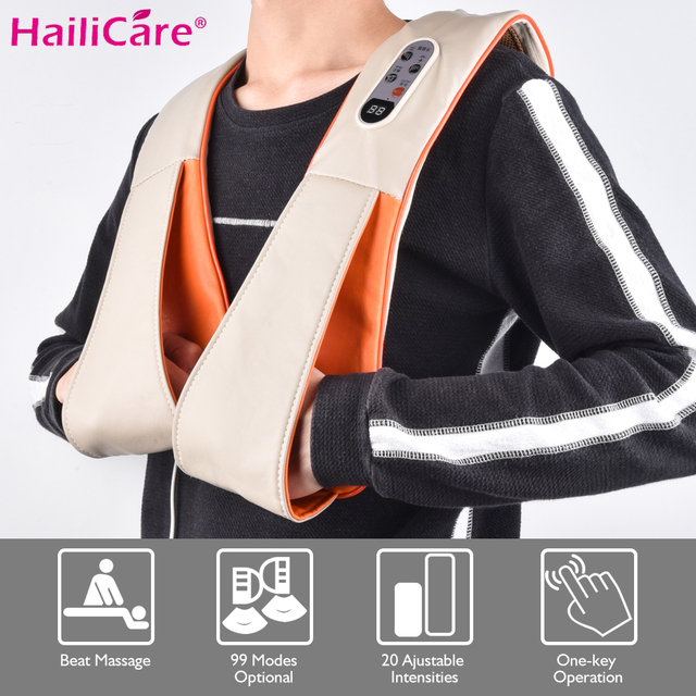 New Electrical Body Massager Pain Relief Relaxation Knock Therapy Cervical Neck Back Shoulder Knocking Massage Shawl Health Care