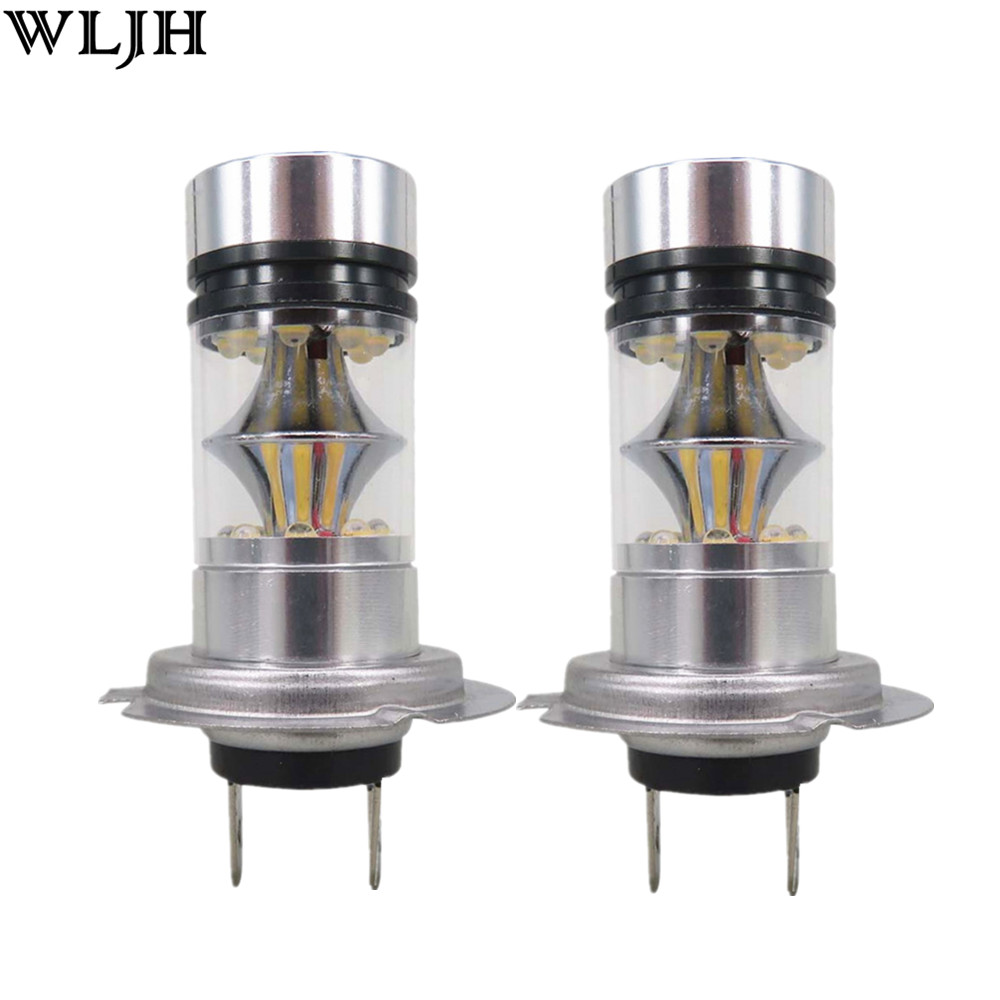 WLJH 2x H8 H11 H7 9005 9006 5202 1157 1156 7443 7440 H16 P13W PSX24W - Car Lights