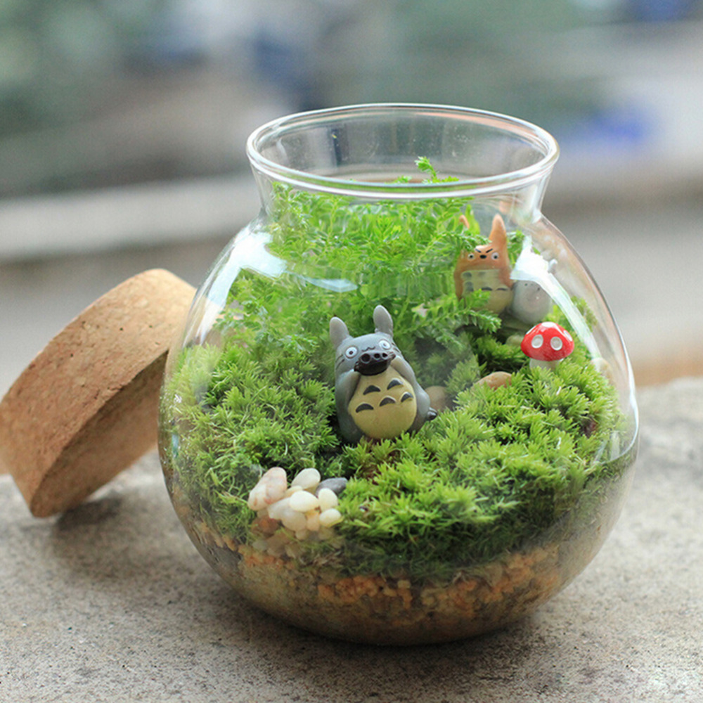 Zakka Resin Vintsge Mushrooms Stump Mini Ornaments DIY Fairy Garden ...