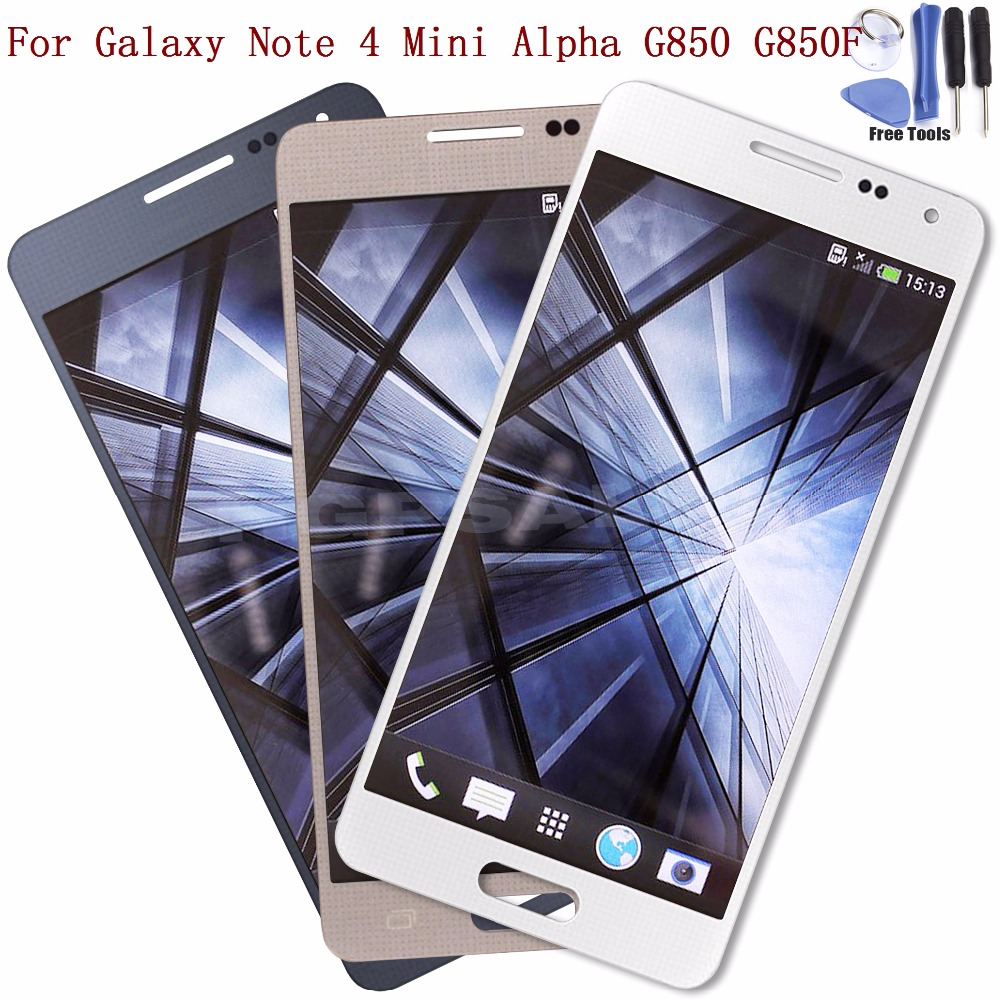 For Samsung Galaxy Alpha G850 G850F G850M LCD Display Touch Screen glass Digitizer Assembly