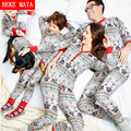 BEKE MATA Family Christmas Pajamas 2016 Casual Matching Mother Daughter Clothes Cotton Family Look Father Son Clothing Outfits