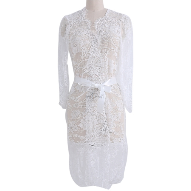 534cb9e3a29cb Top Quality Lace Open Front Maternity Dress See Through Studio Clothes  Photography Props
