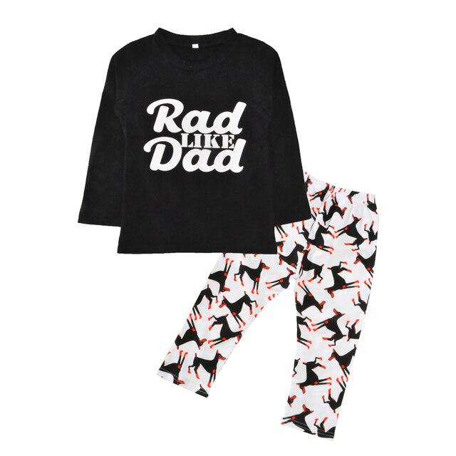 f58b194e Boys Clothing Sets Autumn Spring Letter Red Like Dad T Shirts+Dog Pants  2pcs Boy Clothes Cartoon Animal Kids Baby Clothing Set