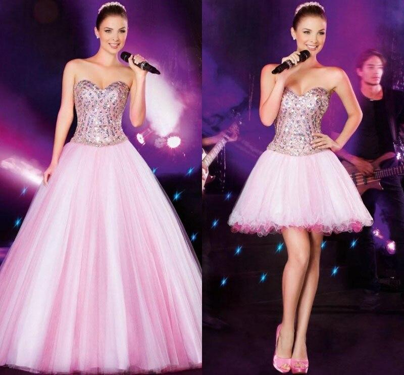 Hermosa Vestido Rosa Prom Festooning - Ideas para el Banquete de ...