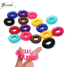 Headwear Girl Bijoux Small Telephone Line Hairband Hairgrips for Women Wedding Hair Jewelry Accessories Baby Rubber Band
