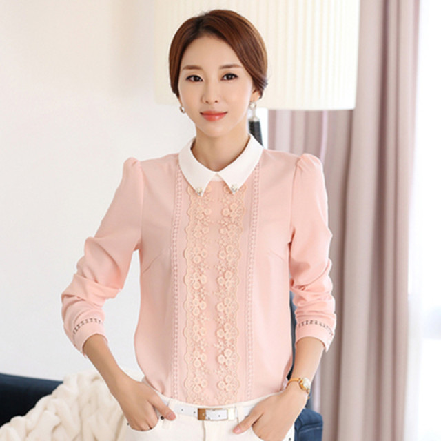 Aliexpress.com : Buy 2016 Women Summer Blouses Peter Pan Collar ...