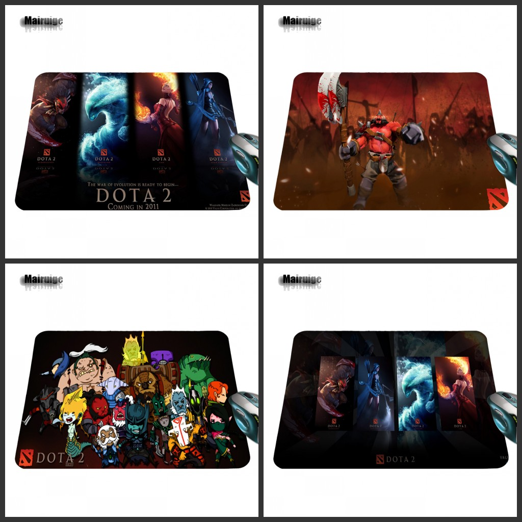 Mairuige New Arrival DoTA 2 Gaming Antiskid Rectangle Game Mouse Pad Size for 220mm X 180mm X 2mm Y 250mm X 290mm X 2mm