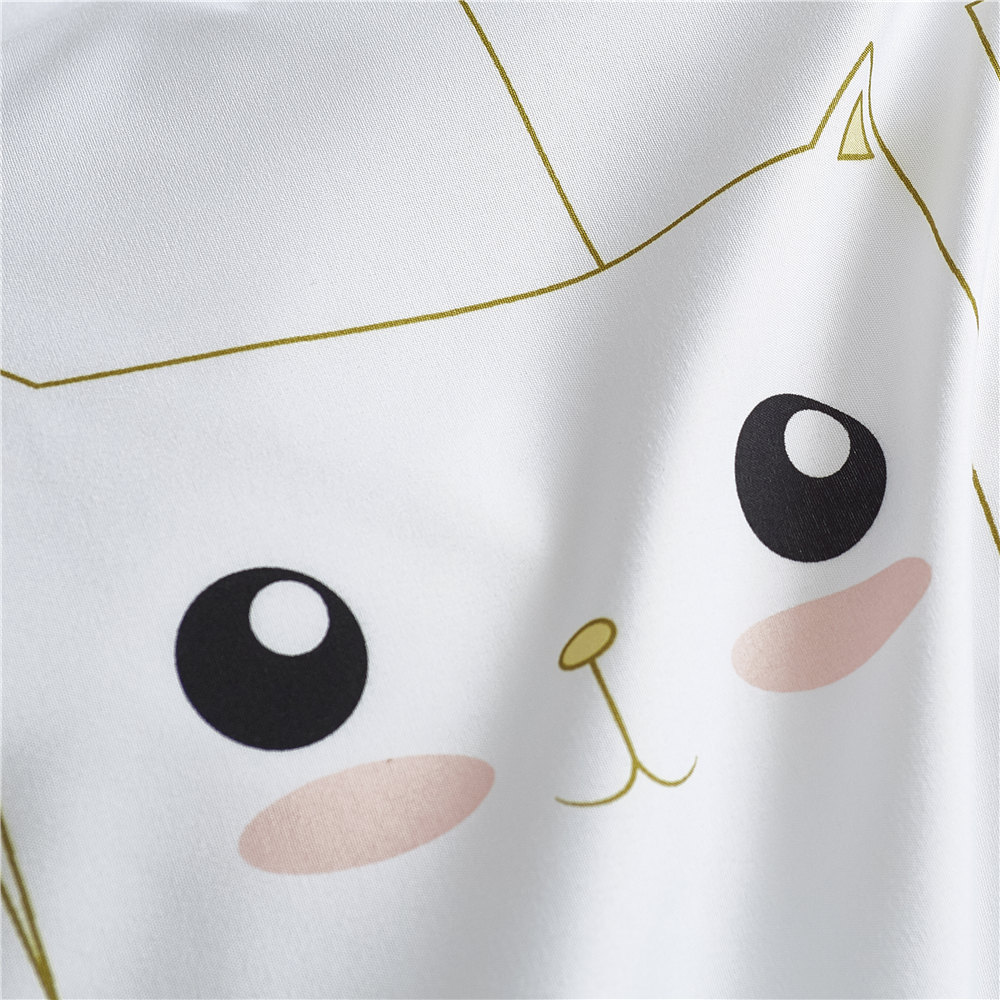 Girls Bed Linen Set Korean Brief Bedding Set Bed Bedclothes Microfiber White Comforter Duvet Cover Set King Queen for Teens