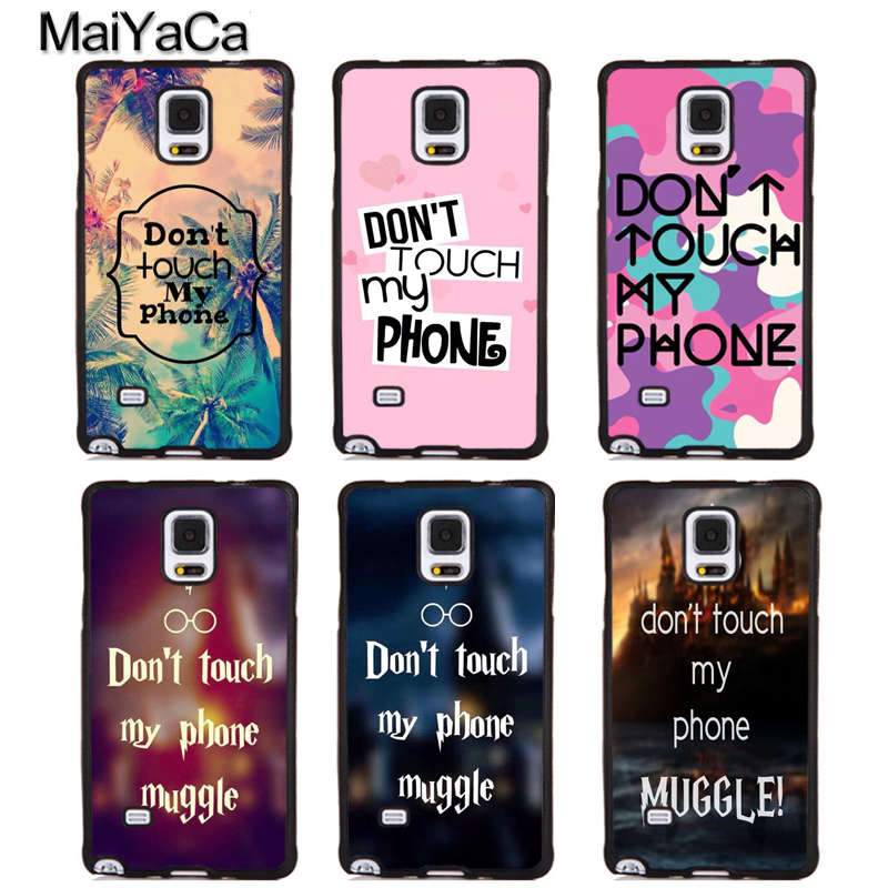 MaiYaCa dont touch my phone Soft Rubber Phone Cases For Samsung Galaxy S5 S6 S7 edge plus S8 S9 plus Note 5 8 Back Coque Cover