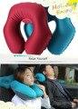 TPU Car Air Inflation U-type Neck Pillow Automotive Air Inflation U-type Neck Pillow Convenient Outdoor Protable Travel Pillow