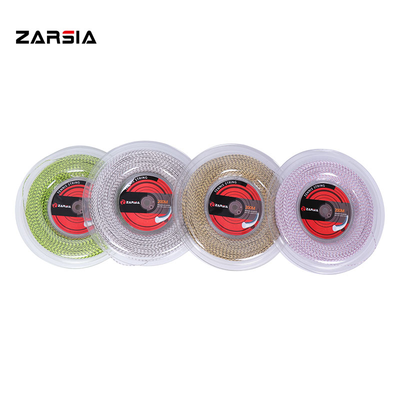 ZARSIA Squash Racquet Nylon Strings 1.25mm Composite Filament Tennis Racket String 200M Big Banger