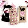 JAMULAR Graffiti Sexy Lips Phone Case For iphone 6 6s 7 Plus Soft Silicone Cases For iphone 8 7 Plus Cover Protective Kiss Capa