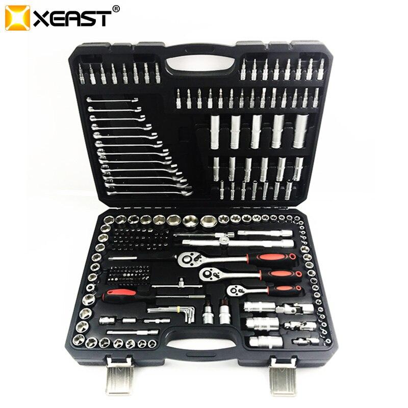 XEAST 216 PC ensemble d'outils pour outils de réparation de voiture outil mécanique jeu de douilles clé à cliquet jeu de clés