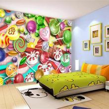 3d living room photo wallpaper custom mural non-woven wall sticker kids room cartoon candy