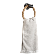 Веревка кольцо для полотенец настенное крепление ручные кольца для полотенец сверхмощный твердый держатель для полотенец для ванной комнаты ржавчины натуральные деревенские веревки