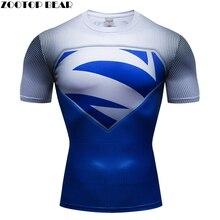 Superman 3D t camisa de los hombres de manga corta Camisetas de secado  rápido Tops culturismo Fitness camisetas Crossfit Homme A.. 1dbfc71068087
