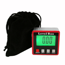 Digital electronic Protractor angle finder  Portable level box digital inclinometer with magnets measuring carpenter tool