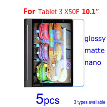 5pcs/lot Anti Scratch Clear/matte/Nano Guard Protective Films for Lenovo Yoga Tablet 2 1050F/2 830F/3 X50F Screen Protector film