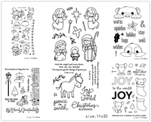 AZSG Cartoon Style Lovely Angel Animals Clear Stamps/Seal For DIY Scrapbooking/Card Making/Album Decorative Silicone Stamp Craft