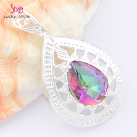 Top Jewelry 2016 New Fashion High Quality Classical Colorful Stone Decorative Border Best Pendant For Mrs