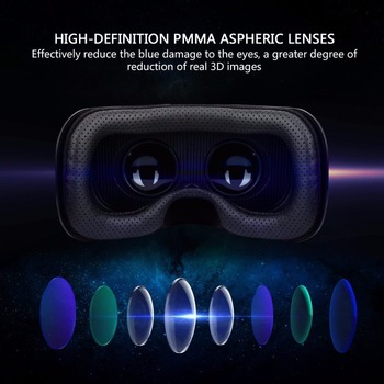 Shinecon Upgraded Z4 VR Large Viewing Immersive Experience Vr box 3D Virtual Reality Glasses with Stereo Headphone with gampad 1