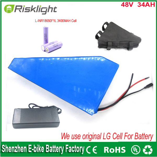 48v 1000w bafang lithium ion battery with triangle  bag for electric bike battery 48v 34ah ebike li-ion battery pack Use LG Cell powerful 48v electric bike battery pack li ion 48v 50ah 1000w batteries for electric scooter with use panasonic 18650 cell