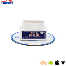 High-Quality MINI ELM327 WiFi V1.5 Super OBD2 Auto Scanner Tool Support All OBDII Protocols Works On Android/IOS/PC