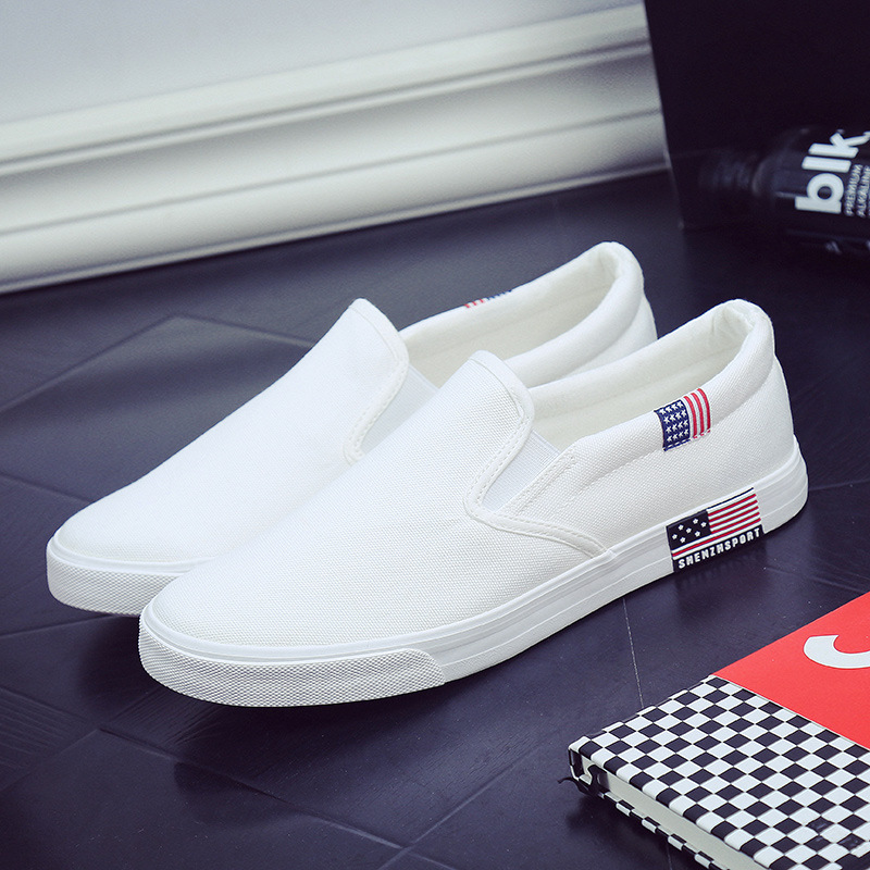New men vulcanize shoes man fashion sneakers leisure platform flats student  breathable white single