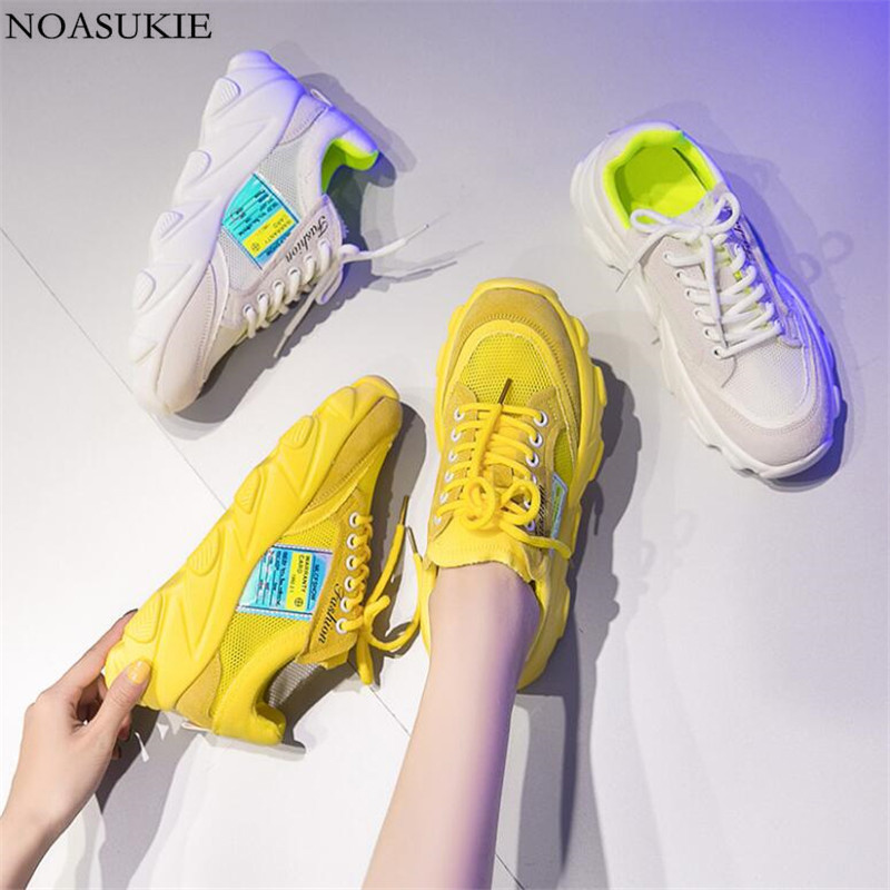 Fashion Color Shoes Women Flat Platform Sneakers Hip Hop Stitching Breathable Mesh Casual Chunky Sneakers Retro High QualityFashion Color Shoes Women Flat Platform Sneakers Hip Hop Stitching Breathable Mesh Casual Chunky Sneakers Retro High Quality