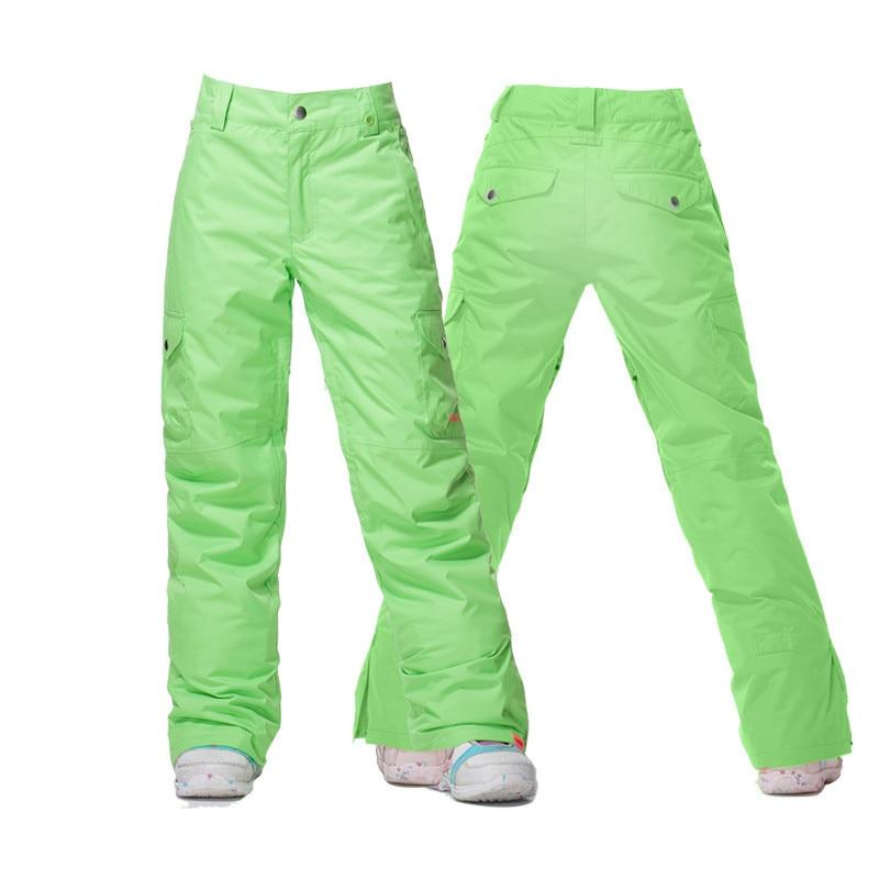 Gsou Snow Windproof Ski Pants waterproof red green winter sports trousers Snowboard equipment