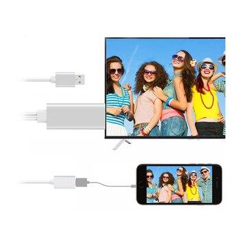 7fcaa63c8a4 2 m 8Pin HD 1080 P Cable adaptador HDMI TV AV convertidor de plomo para  iPad iPhone XS XR