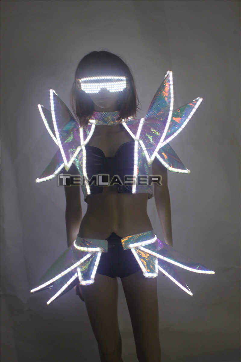 b35c7d54818aa ... LED Costumes Ballroom Dance luminous Nightclub Clothing Illuminate  Flashing stage LED Vest Shoulder Party DJ disco