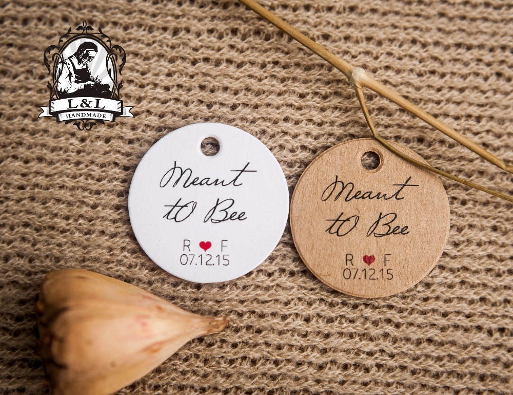 Y3-200 pcs 3.5cm round kraft/white paper label Label customization product label honey favor tags personalized tag gift tags