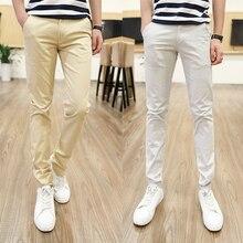 Большие размеры 28-44 высокие и высокие мужские брюки средней длины мужские Узкие хлопковые брюки 120 см летние мужские брюки высокого качества