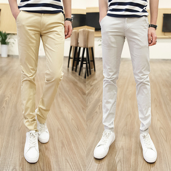 2018 Big Size 28-44 High And Tall Man Extra Length Pants Mens Slim Fit Cotton 120cm Trousers Summer High Quality Male Bottoms