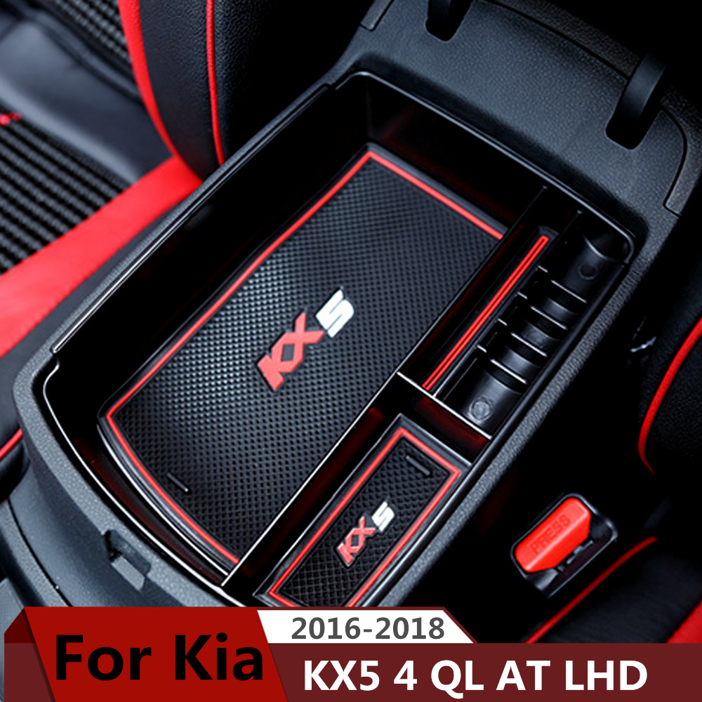Car Accessories For Kia Sportage KX5 4 QL 2016 2017 2018 AT LHD Car Central Armrest Box Storage Container Organizer Holder Case