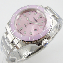 40mm Bliger pink dial  sapphire crystal automatic movement womens watch