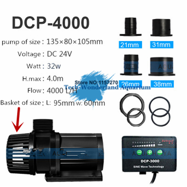 4000l h jebao dcp 4000 24v submersible marine dc water pump with