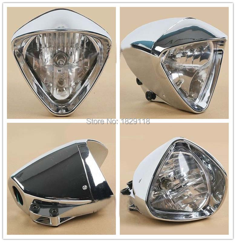 6 Chrome Plated Cobra Headlight font b Light b font For Honda Magna Steed Shadow Motorcycle
