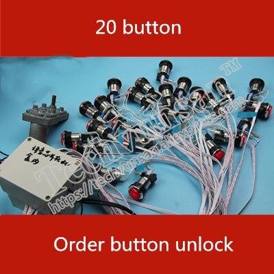 Takagisme jeu d'aventure vraie vie chambre humaine pièce d'évasion 20 boutons clé séquentielle déverrouiller clés logiques mot de passe accessoires