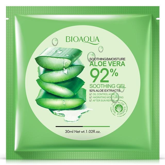 BIOAQUA Natural Aloe Vera Gel Facial Mask Fall Winter Moisturizing Oil Control Shrink Pores Tightening Skin 1PC