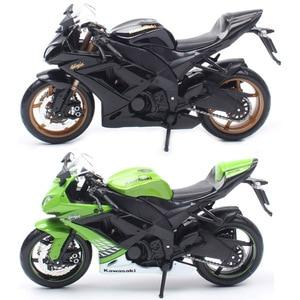 Image 1 - Crianças 1:12 maisto kawasaki ninja ZX 10R zx 10r esporte diecast veículo mini moto de corrida motocicleta escala modelo brinquedo preto ouro