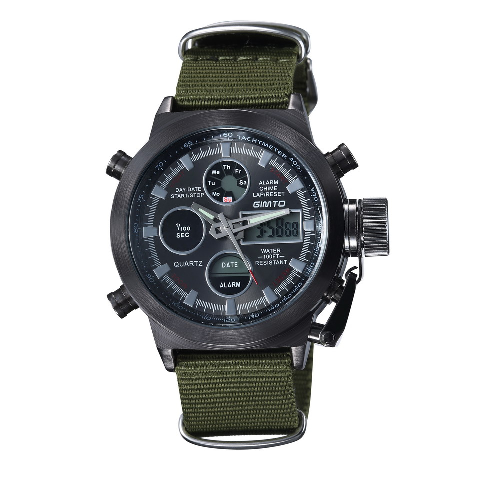 HTB1IkG6dUFWMKJjSZFvq6yenFXaU - GIMTO Military Quartz Sport Watches For Men Analog Digital Nylon Watch Men Clock LED  Men's Watches Waterproof Wristwatch Mens
