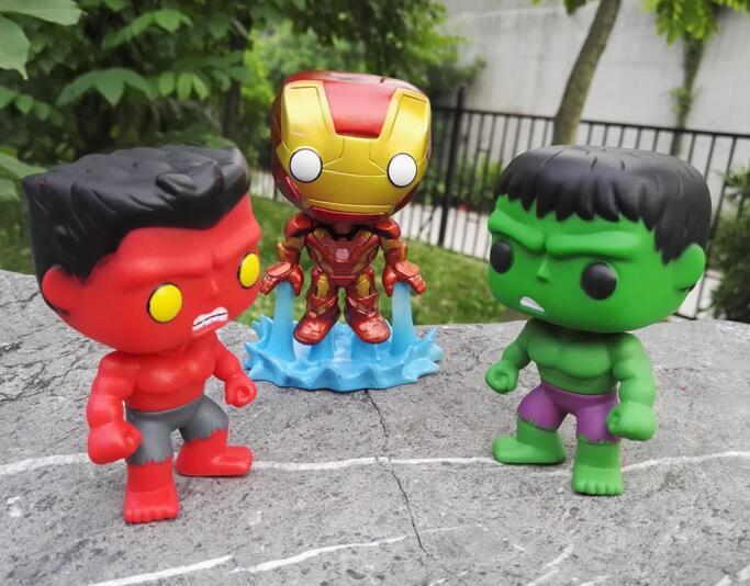 Marvel Red Hulk & Ironman Mk43 Vinyl Dolls Action Figure Model Toy 10cm