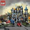 1023 Enlighten Del bloque hueco Aclare Medieval León Castillo Caballero Carro Modelo Juguetes para Niños Compatibles Con Lego
