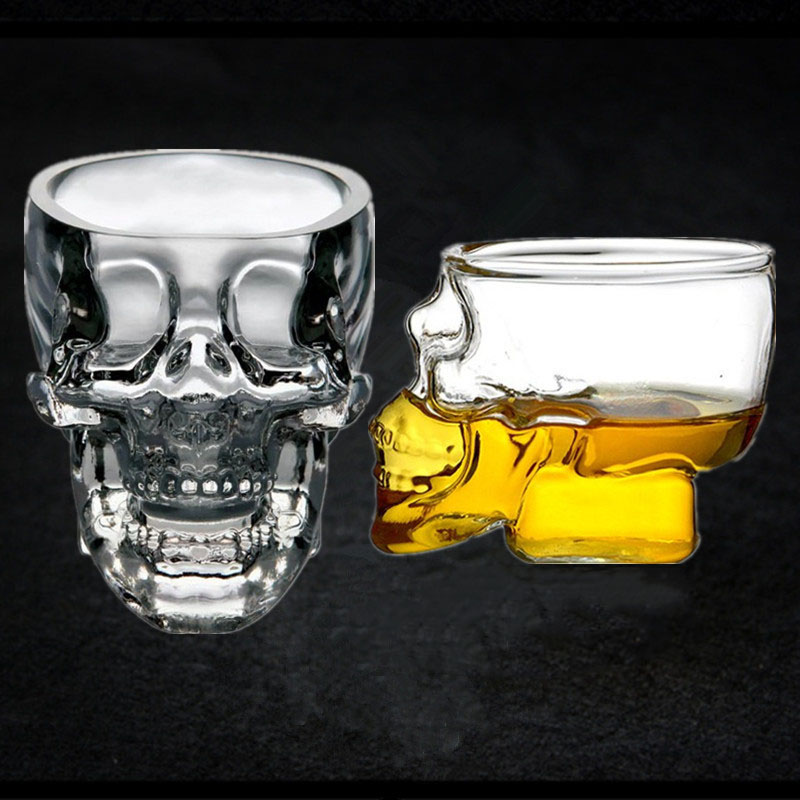 Creative Mini 75ml Crystal Skull Glass Transparent Vodka Whiskey Cocktail Glass for Bar KTV Volga Wine Beer Cup copas de cristal image