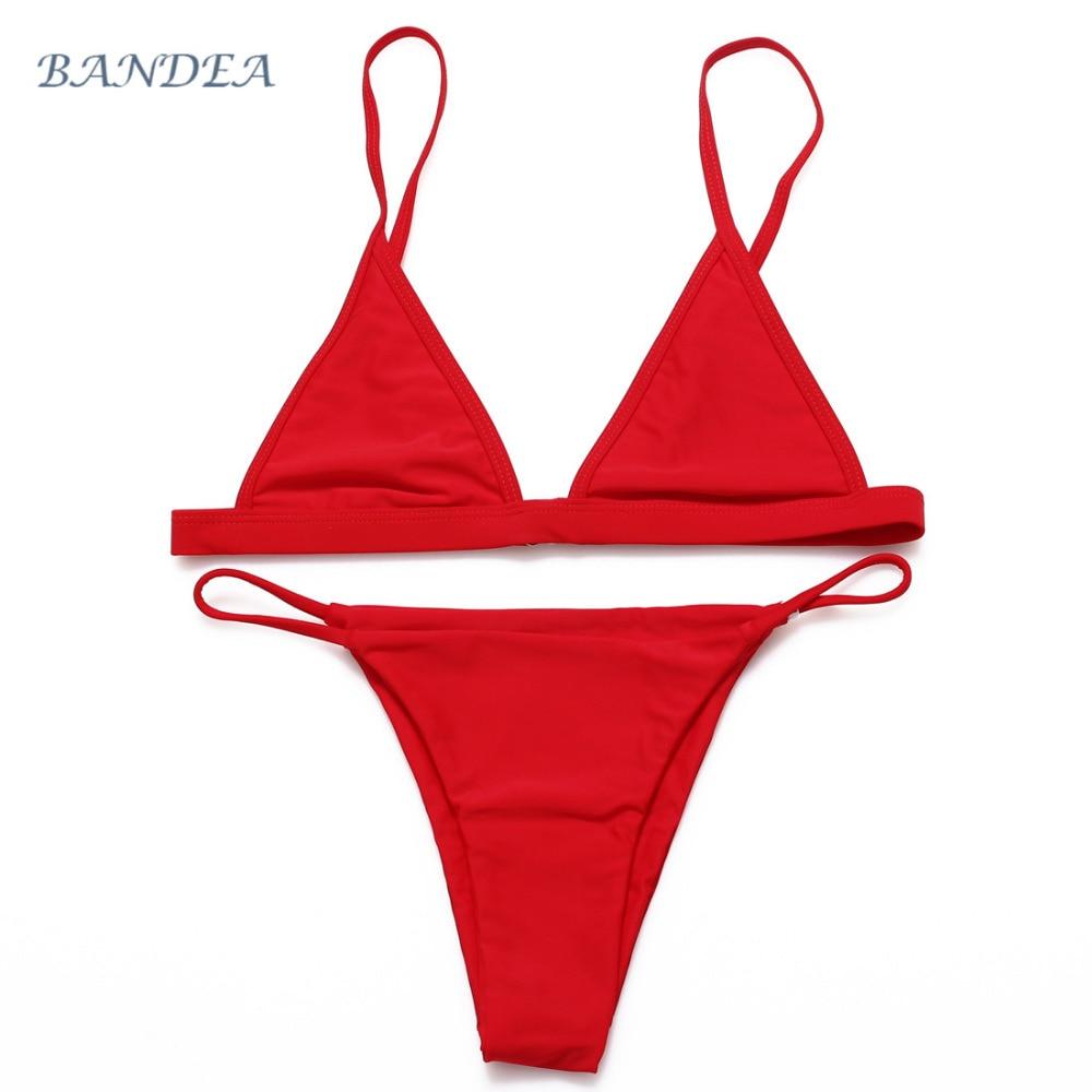 2016 Brazilian Bikini Sexy Women Biquini Halter Swimwear Summer Mesh Swimsuit Beach Black Maillot De Bain