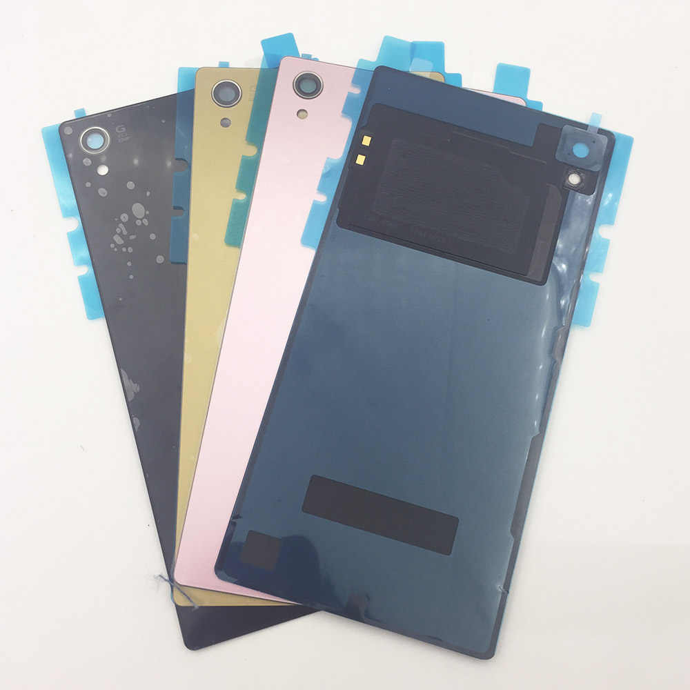 Задняя крышка батарейного отсека для Sony Xperia Z5 Премиум E6853 E6883 E6833 корпус стеклянная Задняя крышка батареи + стикер NFC